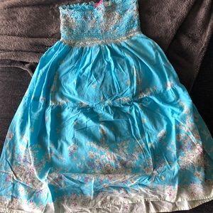 Dresses & Skirts - Turquoise sleeveless sundress